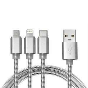 West & Fifth 6ft Silver USB Charge 3-in-1 USB